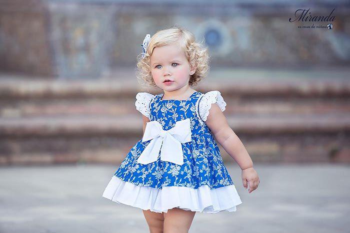 Azul Colección Vestido Klein Flores Y Estampado Vuelo Miranda Con thdCrsQ